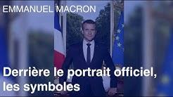 Les symboles cachés du portrait officiel d'Emmanuel Macron