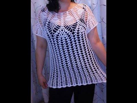 Blusa Piñas 3 a 4 Años Fácil Crochet | Doovi