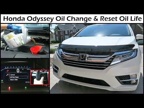 2019 Honda Odyssey Oil Change & Reset Oil Life