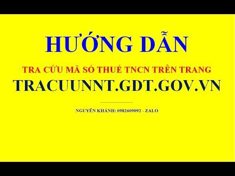 Hướng dẫn tra cứu mã số thuế TNCN trên trang tracuunnt.gdt.gov.vn