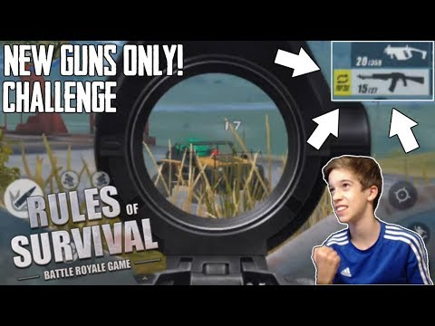 New Guns ONLY Challenge On 300 Person Map! (Rules of Survival)