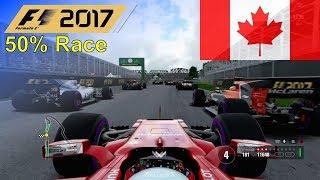 F1 2017 - 50% Race at Circuit Gilles Villeneuve in Vettel