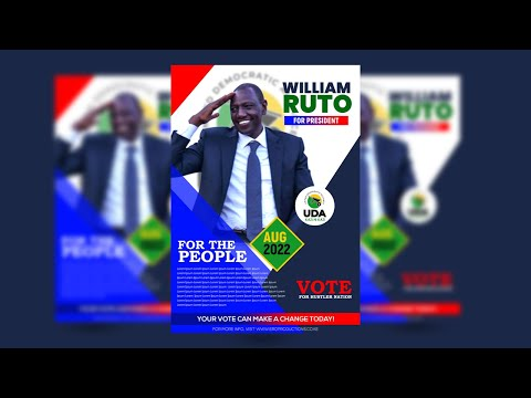 How to Design an Election Poster/Flyer (Or any other Professional Poster) in Photoshop 2021