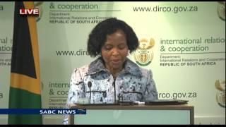 Minister Maite Nkoana-Mashabane briefed media on BRICS Summit