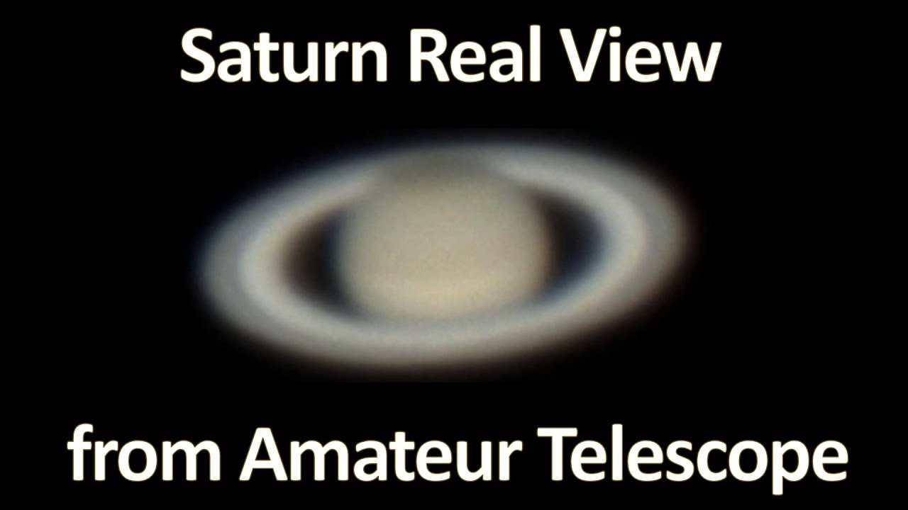 Amateur view saturn that can