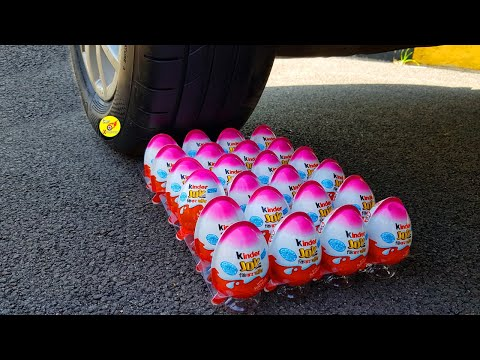 EXPERIMENT: Car Vs Kinder Joy (Surprise Eggs) - Crushing Crunchy & Soft Things By Car!