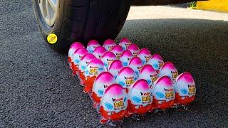 EXPERIMENT: Car vs Kinder Joy (Surprise Eggs) - Crushing Crunchy & Soft Things by Car! screenshot 5