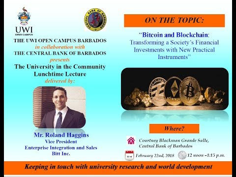 Bitcoin and Blockchain - University in the Community Lunchtime Lecture