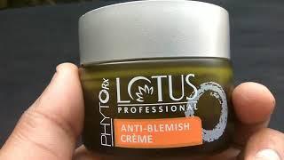 Lotus Professional Phyto Rx Anti Blemish Cream Honest review in hindi