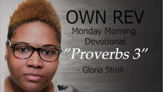 """ Proverbs 3"" with Gloria Strait & Dr Hollen Meyer"