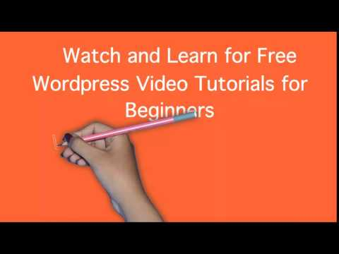 learn how to use build wordpress website for beginners video tutorial