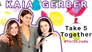 Kaia Gerber Chats with St. Jude Patients Madison & Emily · Take 5 Together