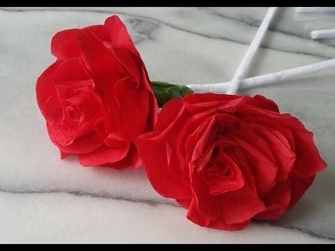 How To Make Paper Roses Easy Paper Flower Diy Youtube