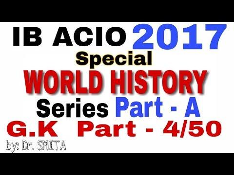 Special World history series || IB ACIO 2017 || PART 4/50