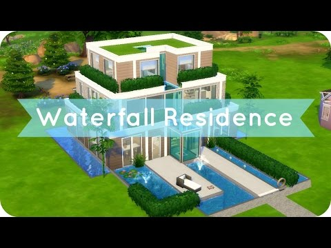Sims 4 Speed Build | Waterfall Residence