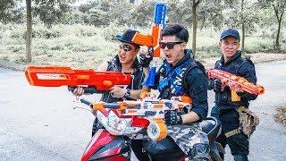 LTT Game Nerf War : Couple Warriors SEAL X Nerf Guns Fight Criminal Group Inhuman Smuggler