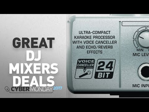 Top Cyber Monday DJ Mixers Deals: Behringer Minimix Mix800 Ultra-Compact Karaoke Machine with Voice