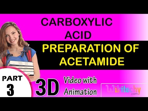 Preparation of Acetamide Carboxylic acid class 12 chemistry subject notes cbse
