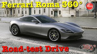 360° VIDEO 4K | Ferrari Roma 360 | Road Test Milano | JULY 2020