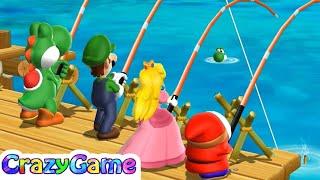 Mario Party 9 Step It Up - Peach v Yoshi v Shy Guy v Luigi   CRAZYGAMINGHUB
