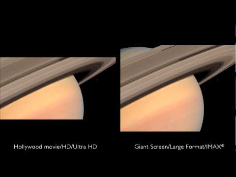 In Saturn's Rings - What you are missing - Giant Screen vs. Normal
