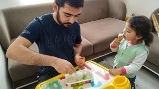 Ayşe Ebrar Pretend Play ICE CREAM Shop | Do You Like Ice Cream? For Kids Video