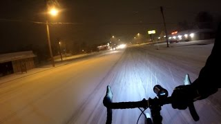 Winter Cycling Snow Studded Tires Tyres Ice Cycle Night Commute BikeBlogger