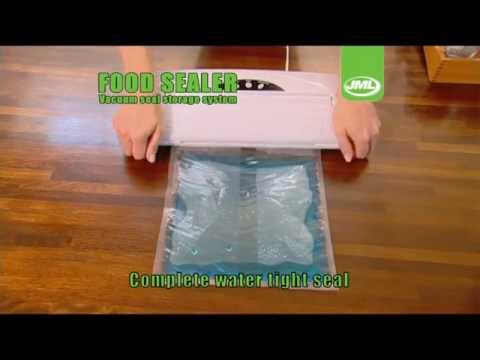 JML Vacuum Kitchen Packaging Food Sealer Storage System with Rolls & JML Vacuum Kitchen Packaging Food Sealer Storage System with Rolls ...