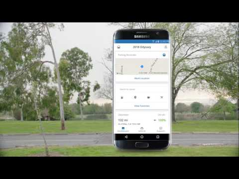 2018 Honda Odyssey Hondalink App Overview Youtube