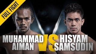ONE: Full Fight | Muhammad Aiman vs. Hisyam Samsudin | Striking Showcase | September 2016