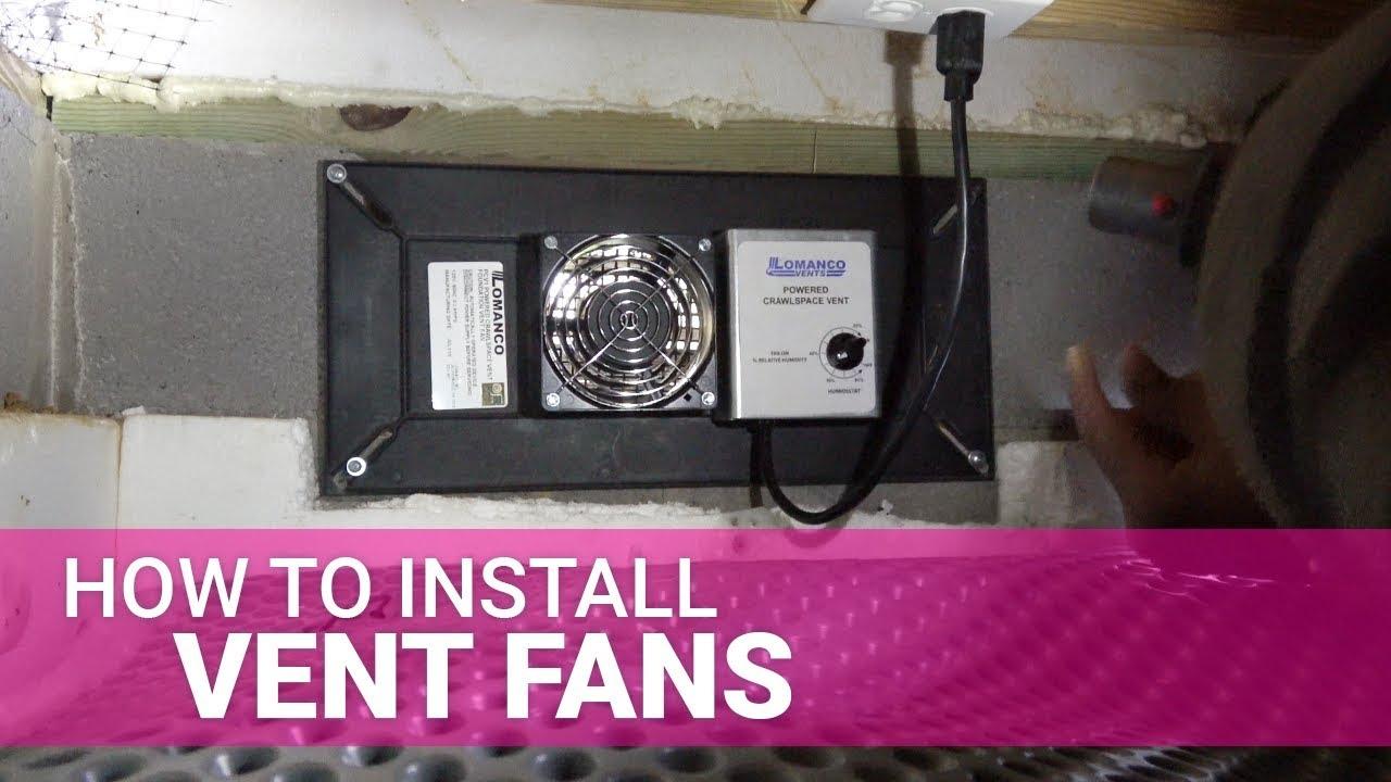 how to install a foundation ventilation fan lomanco pcv 1