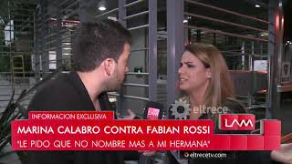 Marina Calabró contra Fabián Rossi: