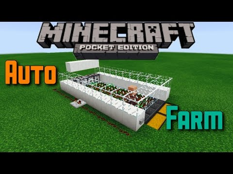 ✔️Minecraft PE  | Automatic Farm! (With A Villager) - Tutorial