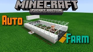 ✔️Minecraft PE 1.0.0 | Automatic Farm! (With a Villager) - Tutorial