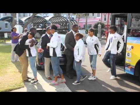 Bermuda Carifta Team Athletes City Hall Appearance Apr 5 2012