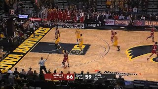 Collin Hartman Block to Robert Johnson 3-Pointer vs. Iowa