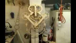 Grasshopper Escapement Wooden Gear Clock  2