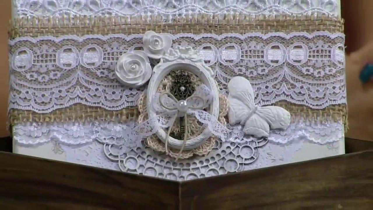 Caixa decorada com juta e resina estilo shabby chic camila - Estilo shabby chic ...