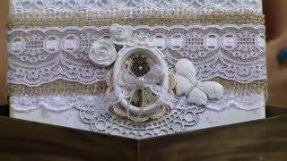 Caixa decorada com Juta e resina estilo shabby Chic Camila Claro PT2