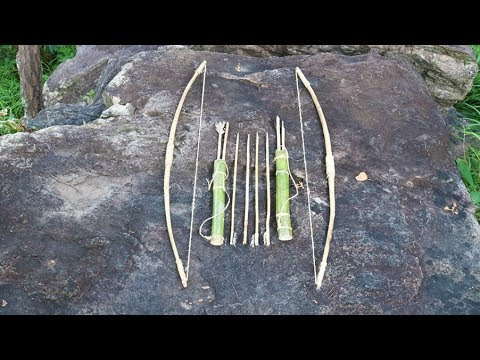 How To Build Most Beautiful Bow And Arrow  On Battery Life Top Mountains By Ancient Skill