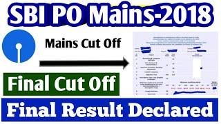 SBI PO Final Result 2018 || SBI PO Final Cut Off 2018 || SBI PO Mains Cut Off 2018