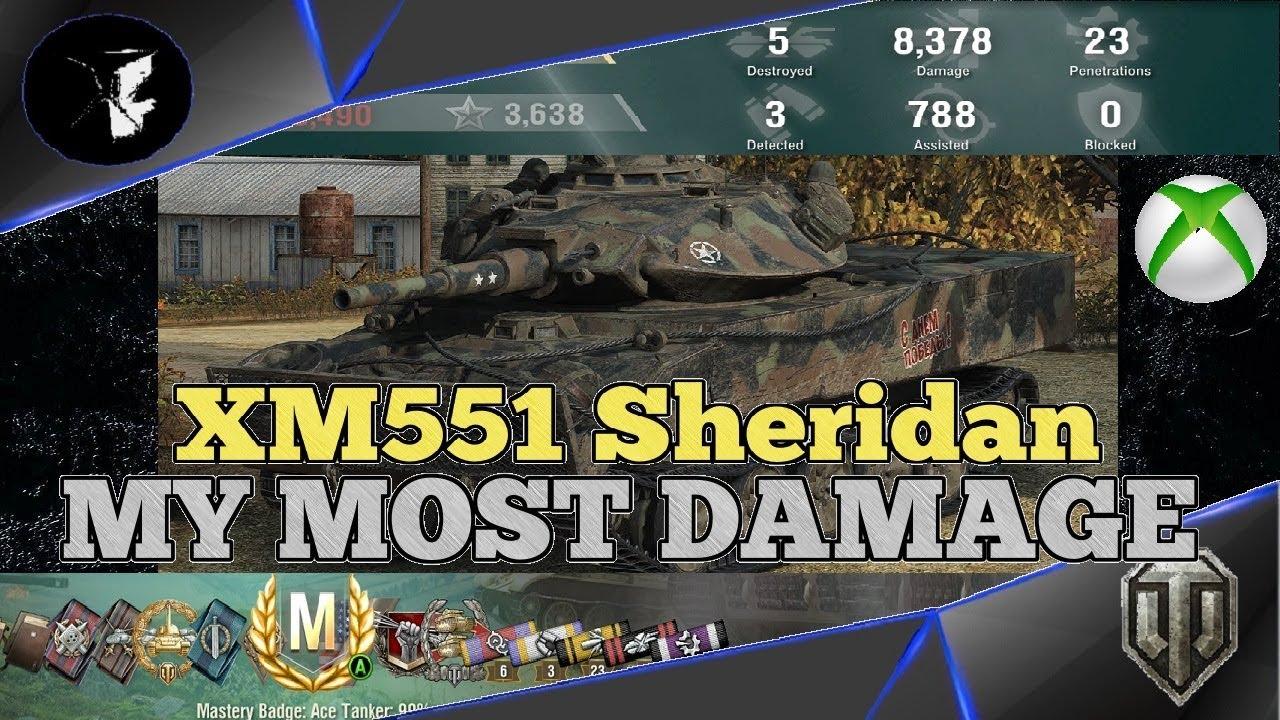 World of Tanks: Mercenaries || MASSIVE DAMAGE || XM551 Sheridan Ace Tanker