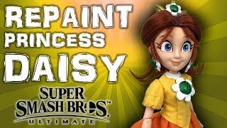 Custom PRINCESS DAISY doll repaint TUTORIAL [Super Smash Bros Ultimate]