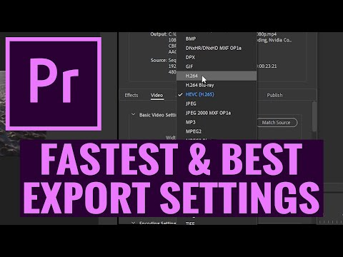 BEST EXPORT SETTINGS In Premiere Pro CC Export FAST With Hardware Encoding