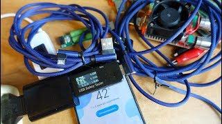 USB шнуры для зарядки с Алиэкспресс. Тест. Обзор. Видеоотзыв.