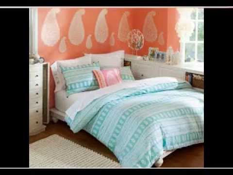 Diy Blue And Orange Bedroom Design Decorating Ideas Youtube
