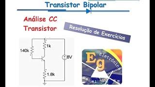 Resolução exercício - Transistor bipolar