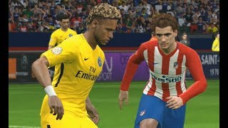 [PC] Neymar vs Atlético Madrid - Gameplay Nouveaux Maillots 2018 PES 2017