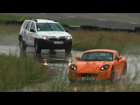 World's most unusual race - Dacia Duster vs Ginetta G40R by autocar.co.uk