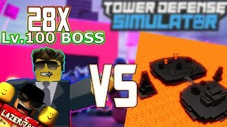 [ROBLOX] Tower Defense Simulator: 28 CROOK BOSSES vs INFERNAL ABYSS (Défi 1)